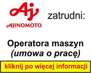 AJINOMOTO - operator maszyn 3
