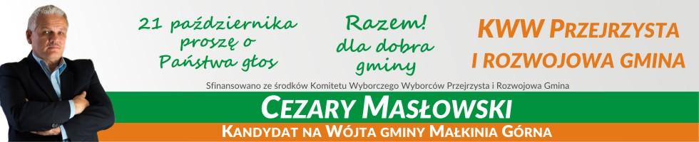 Wybory 2018 - Cezary Masłowski
