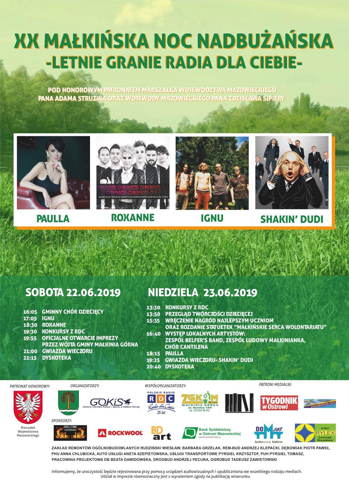 Małkińska Noc Nadbużańska 2019