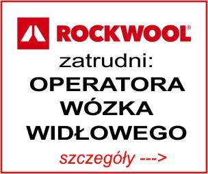 Rockwool - operator wózka widłowego