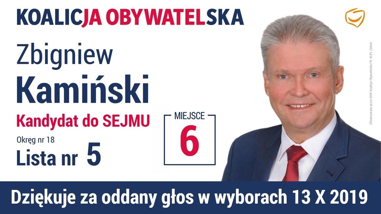 Kandydat na Posła RP - Zbigniew Kamiński