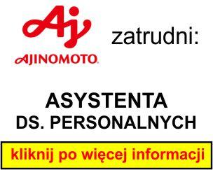 Ajinomoto - ASYSTENTA DS. PERSONALNYCH