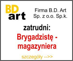 BD ART - brygadzista magazynier