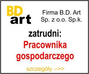 BD Art - pracownik gospodarczy
