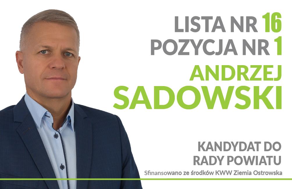Wybory 2018 - Andrzej Sadowski