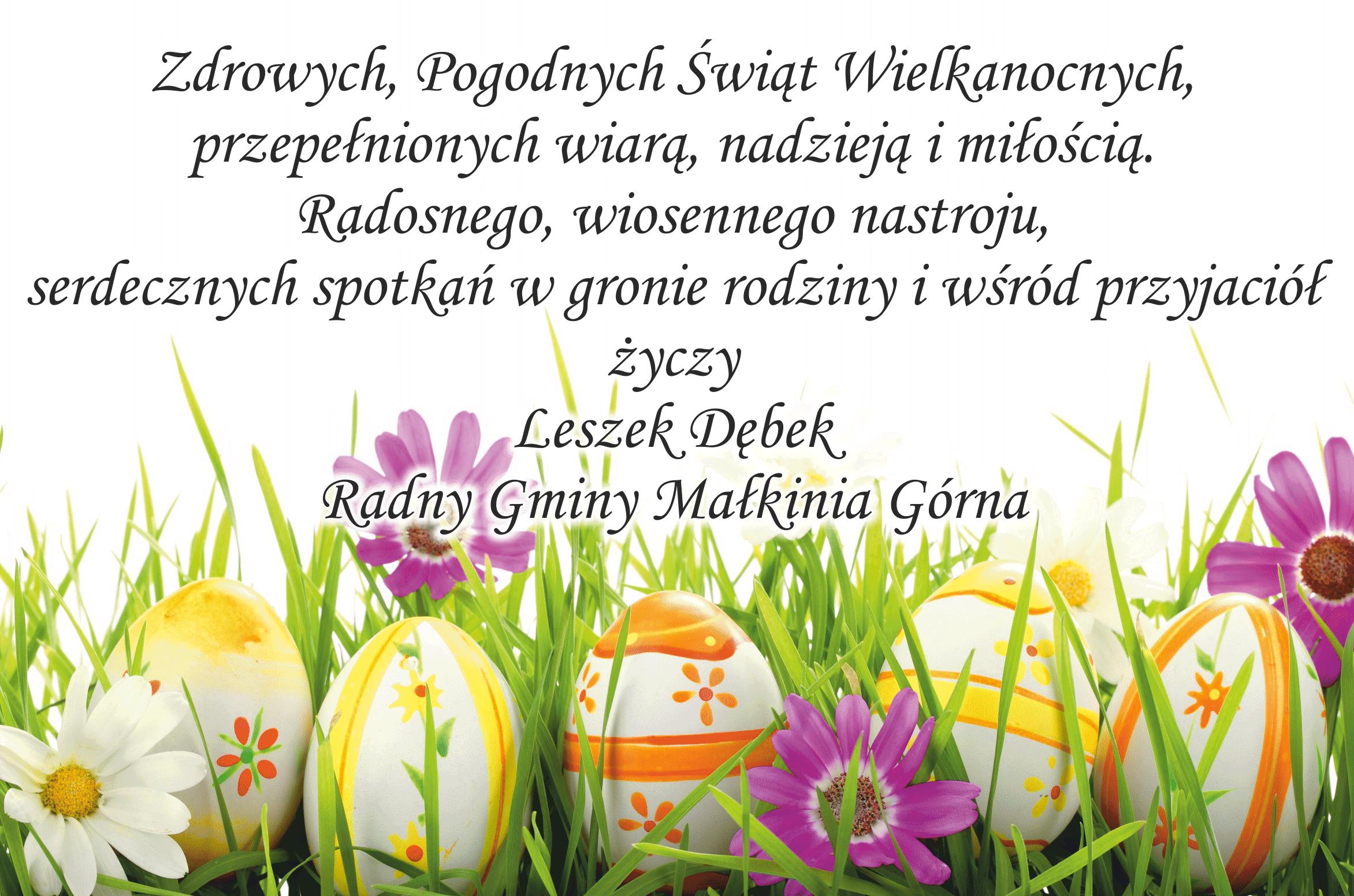 Życzenia wielkanocne  Dębek Leszek